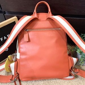 charles & keith Bags - Charles & Keith Orange Zipper Compartment Backpack